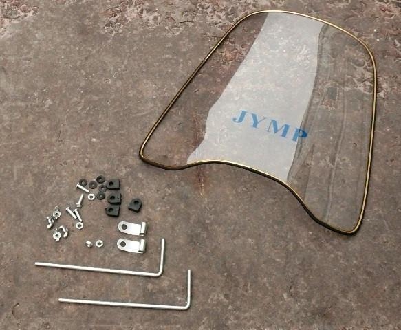 Стекло лобовое с креплением(супер качество, гнется JYMP