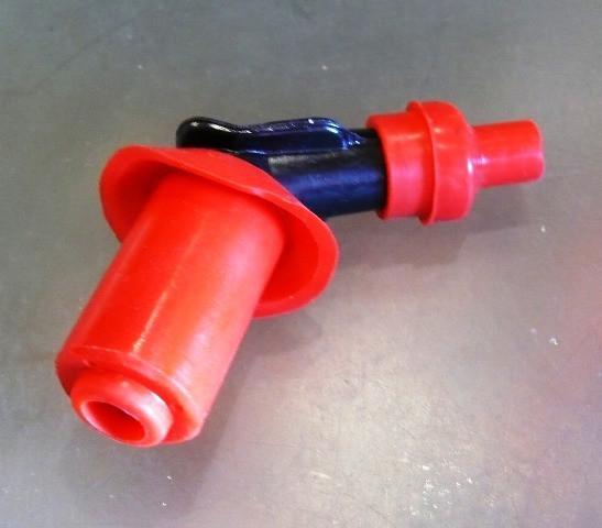 Надсвечник 4T на GY-6  с силиконовой резинкой  (красный)