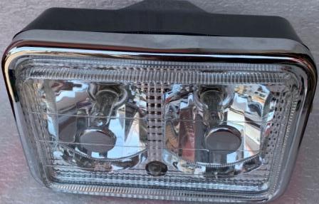 Фара  МТ  ИЖ квадратная двойная белое стекло