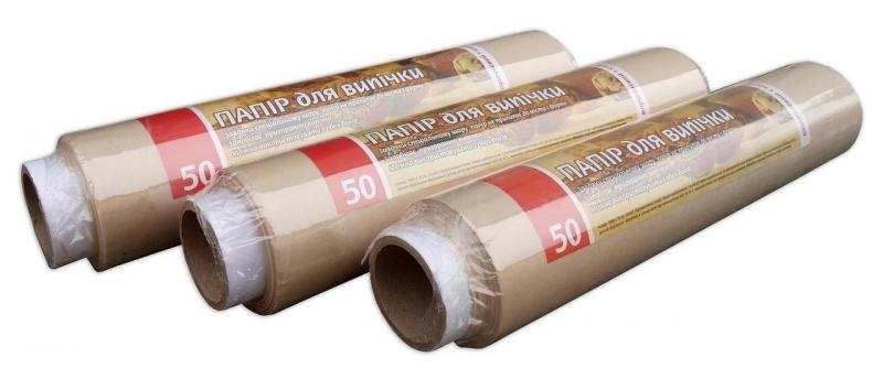 Бумага для выпекания коричневая Vivat 50м