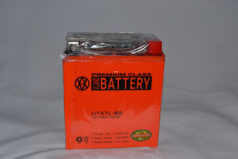 Аккумулятор 12V 7Ah гелевый с датчиком (113х70х132) UTX7L-BS (оранжевый) BATTERY