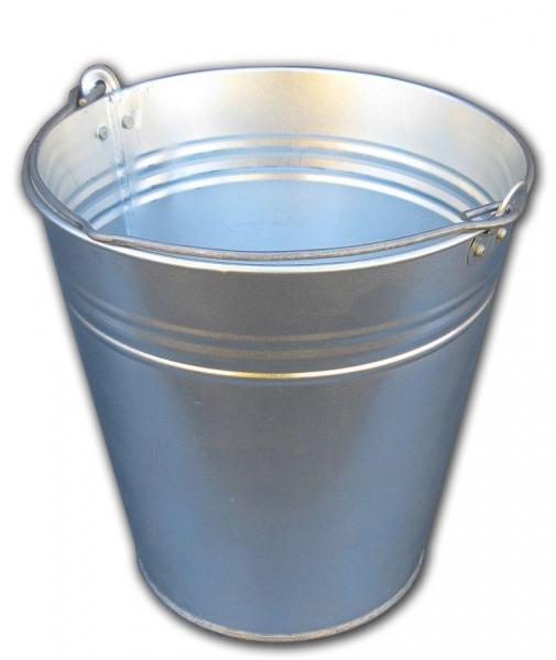 Ведро 10 литров оцинкованное одношовное (Метид, Днепр)