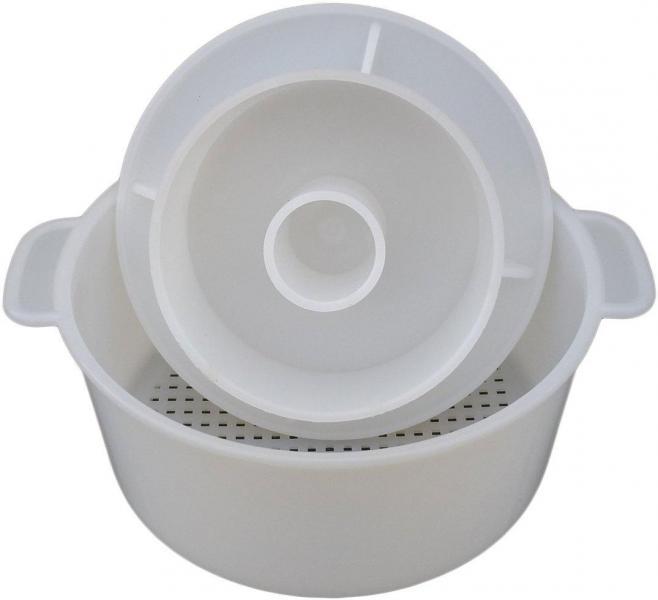 Форма для сыра с поршнем Ø160 мм на 1,5 кг пластиковая (ЧП КВВ)