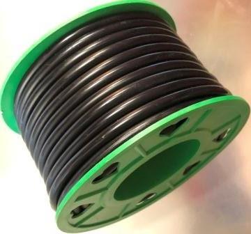 Бензошланг 4 мм резиновый силикон черный 20 метров