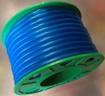 Бензошланг 4 мм резиновый силикон синий 20 метров