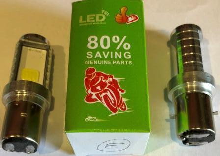 Лампа фары LED BA20D 2 диода со стабилезатором