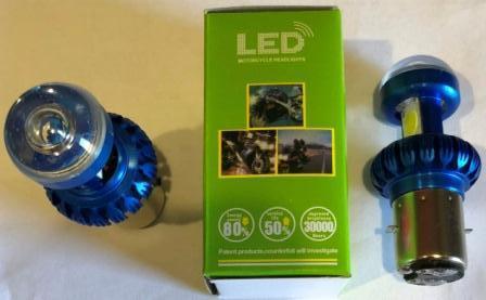 Лампа фары LED BA20D 2 диода (глазок)