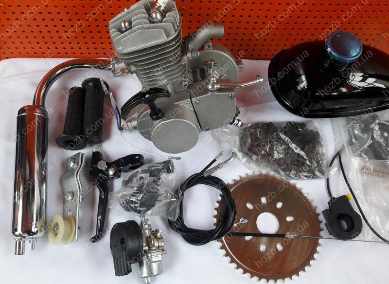 Двигатель Дырчик-80 полный комплект с ручным стартером.