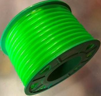 Бензошланг 4 мм резиновый силикон зеленый 20 метров