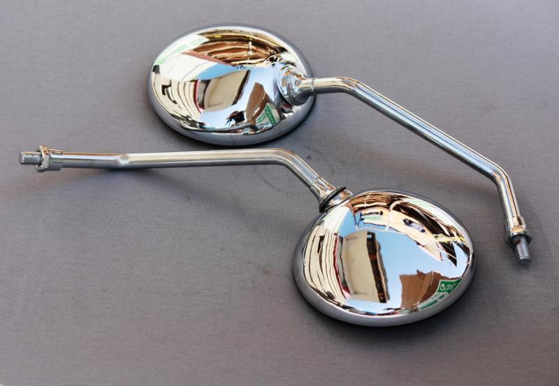 Зеркала круглые , метал. хром МТ 10мм