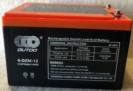 Аккамулятор 12V15A 6DZM-12 электро-велосипед 151x98x95 OUTDO