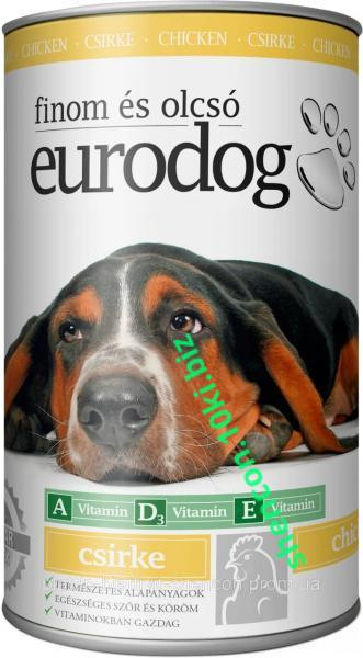 Фото Корм для Собак Консерва для Собак EURO DOG с Птицей 1240 гр