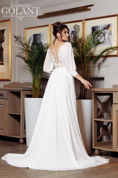 Легкое непышное свадебное платье Селеста