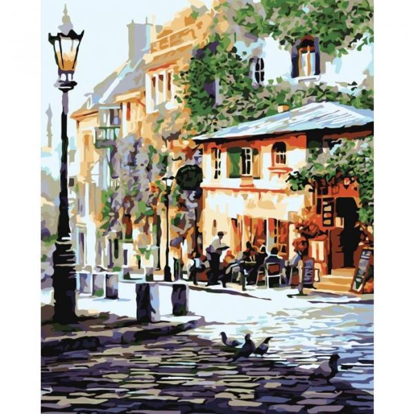 Фото Картины на холсте по номерам, Городской пейзаж KHO 2150