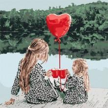 Фото Картины на холсте по номерам, Романтические картины. Люди KH 4669 Маленькие радости Картина по номерам на холсте 40х40см