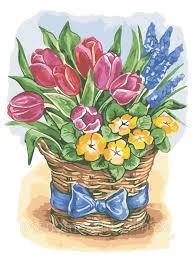 Фото Картины на холсте по номерам, Картины  в пакете (без коробки) 50х40см; 40х40см; 40х30см, Цветы, букеты, натюрморты AS 0575 Праздничные цветы Картина по номерам на холсте Art Story без коробки 40x30см