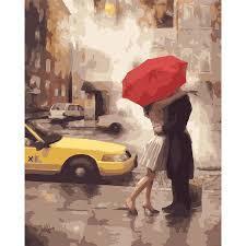 Фото Картины на холсте по номерам, Романтические картины. Люди KGX 7473 Любовь в Нью-Йорке Картина по номерам на холсте 40х50см