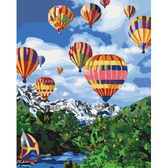 Фото Картины на холсте по номерам, Картины  в пакете (без коробки) 50х40см; 40х40см; 40х30см, Пейзаж, морской пейзаж. KHO 2227