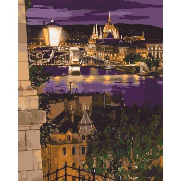 Фото Картины на холсте по номерам, Городской пейзаж KHO 3534