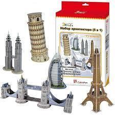 Фото Конструкторы, 3D пазлы, кристалл-пазлы C056h 3D пазлы Набор архитектора (CubicFun)