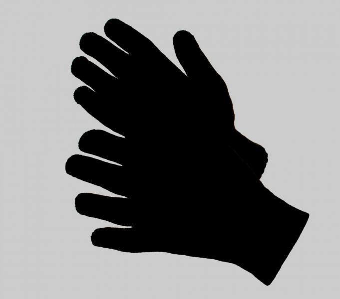 Перчатки пш черные двойные
