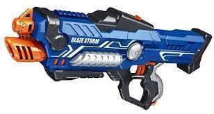 Фото Игрушечное Оружие, Стреляет поролоновыми пульками, снарядами, шариками, стрелами и т. д. ZC 7117 Автомат Blaze Storm с мягкими шариками-пулями, на батарейках