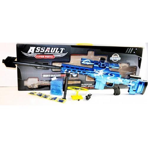 Фото Игрушечное Оружие, Стреляет гелевыми (водяными) пульками L1-3 Игрушечная винтовка  аккумулятор, автозаряжание, гелевые (водяные) пули.