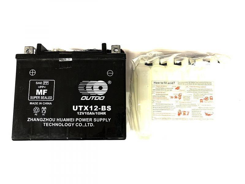 Аккумулятор 12V 10Аh UTX12-BS 135/85/130 мм (заливной), OUTDO, Тайвань.