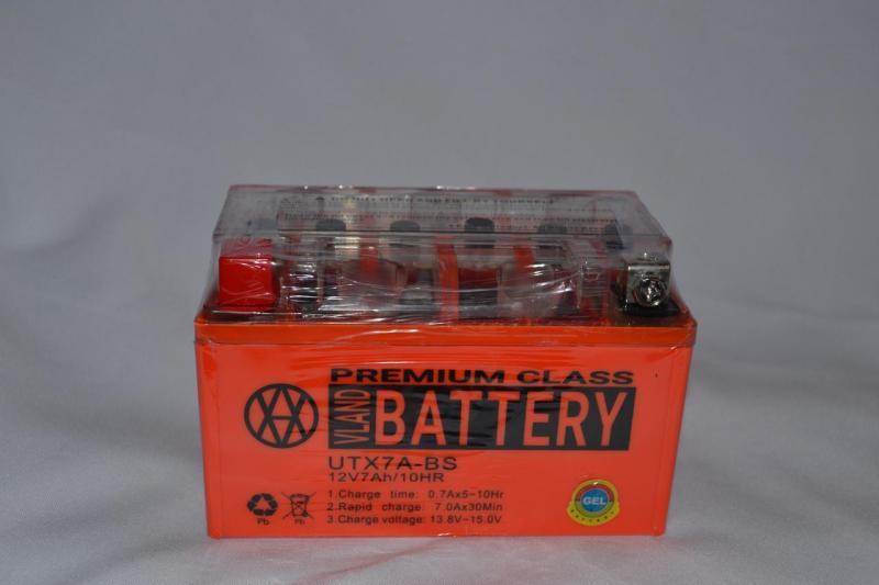 Аккумулятор 12V 7Ah гелевый (150х87х94) UTX7A-BS (оранжевый) BATTERY