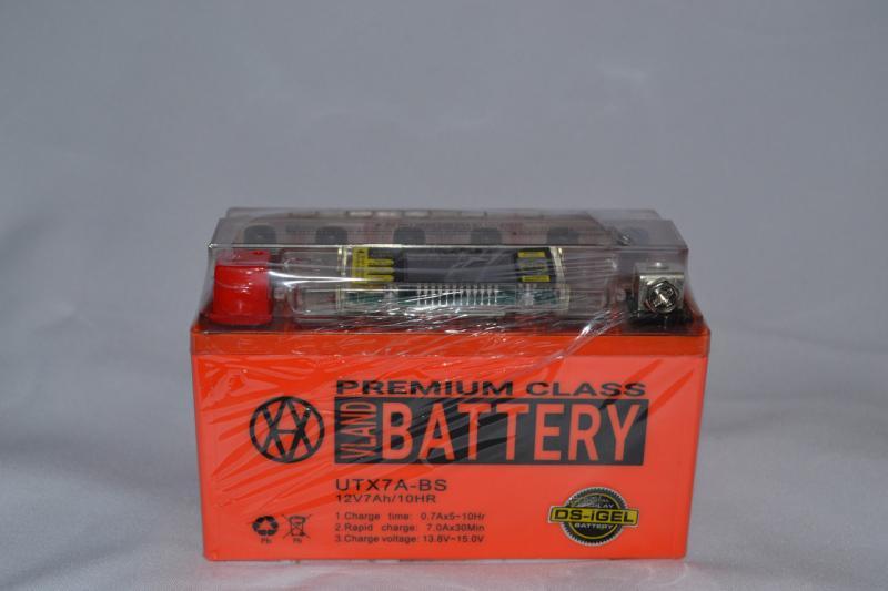 Аккумулятор 12V 7Ah гелевый с цифровым вольтметром (150х87х94) UTX7A-DS (оранжевый) BATTERY