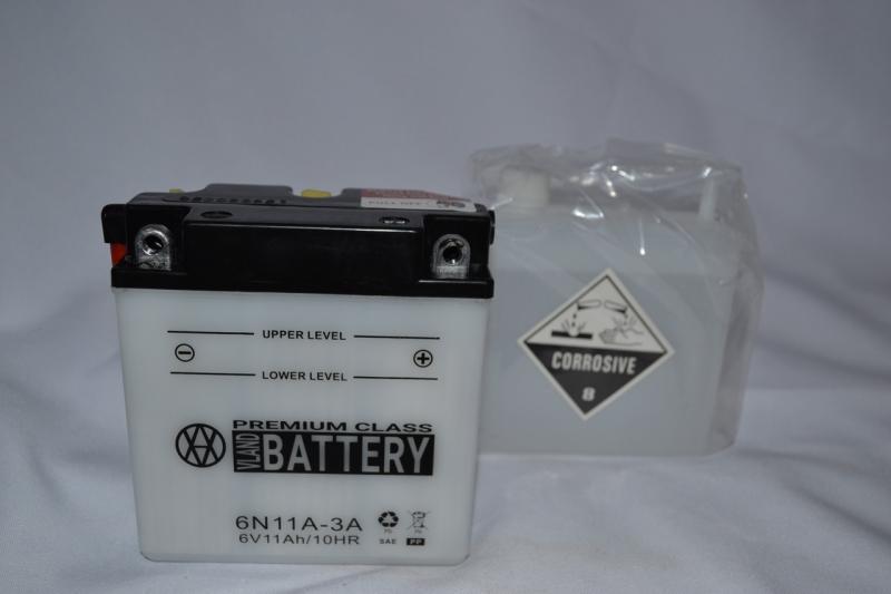 Аккумулятор 6V 11Ah кислотный (120х60х130) N11A-3A BATTERY
