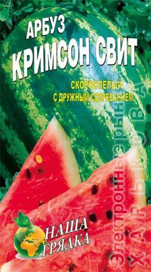 Арбуз Кримсон свит пакет 40 семян - Семена, саженцы и рассада плодово-ягодных культур на рынке Барабашова