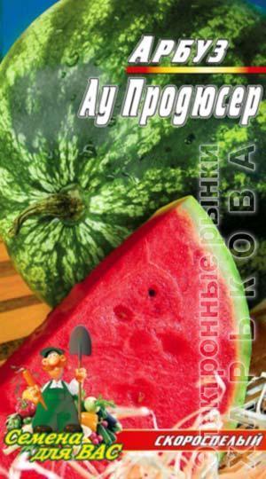 Арбуз Ау Продюсер пакет 40 семян - Семена, саженцы и рассада плодово-ягодных культур на рынке Барабашова