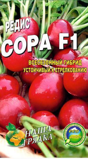Редис Сора пакет 1000 семян