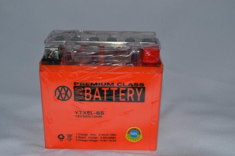 Аккумулятор 12V 5Ah гелевый (113х70х107) UTX5L-BS (оранжевый) BATTERY