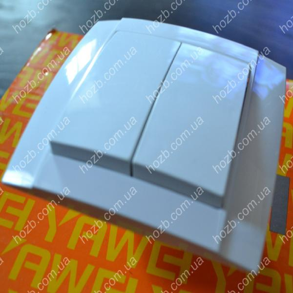 Выключатель двойной внутренний  YAWEITAI YW-2504