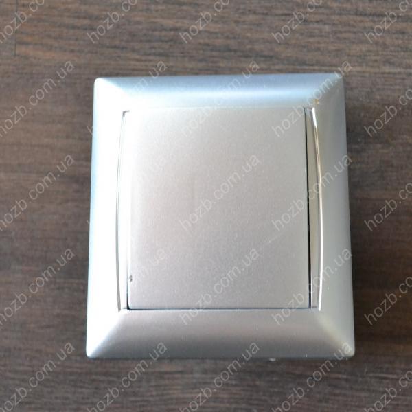 Выключатель одинарный  внутренний LUXEL PRIMERA  3502 Серебро