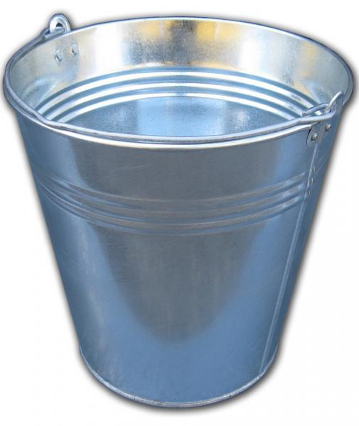 Ведро 15 литров оцинкованное одношовное (Метид, Днепр)