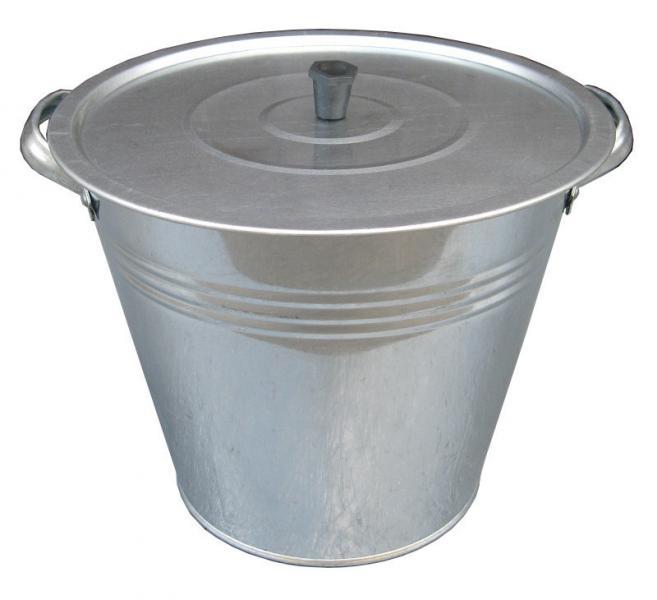 Бак 15 литров оцинкованный с крышкой и решеткой (Метид, Днепропетровск)