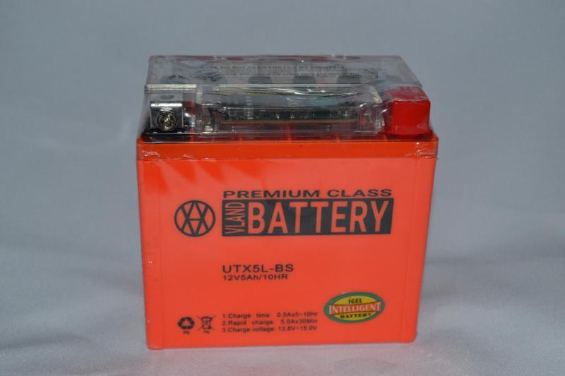 Аккумулятор 12V 5Ah гелевый с датчиком (113х70х107) UTX5L-BS (оранжевый) BATTERY