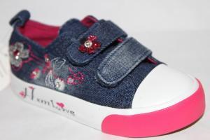 Фото Спортивная обувь, КЕДЫ, Кеды до 32 Кеды D-06 синий