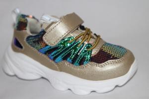 Фото Спортивная обувь, КРОССОВКИ, Маленькие размеры Кроссовки W01С золотой