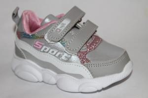 Фото Спортивная обувь, КРОССОВКИ, Маленькие размеры Кроссовки А13 серебро
