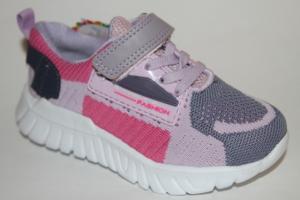 Фото Спортивная обувь, КРОССОВКИ, Средние размеры Кроссовки 030-29 розовый/серый