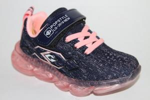 Фото Спортивная обувь, КРОССОВКИ, Средние размеры Кроссовки 20123 синий/розовый