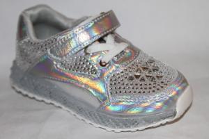 Фото Спортивная обувь, КРОССОВКИ, Средние размеры Кроссовки А7713-2 серебро