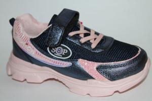 Фото Спортивная обувь, КРОССОВКИ, Большие размеры Кроссовки 029-51 синий/розовый