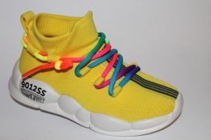 Фото Спортивная обувь, КРОССОВКИ, Большие размеры Кроссовки 618 желтый