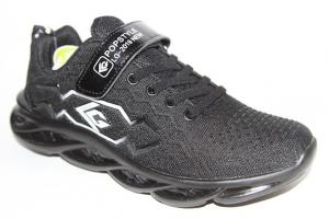 Фото Спортивная обувь, КРОССОВКИ, Большие размеры Кроссовки 40123 черный/белый