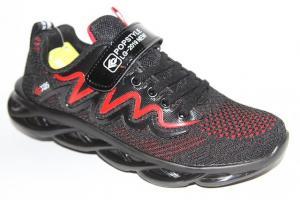 Фото Спортивная обувь, КРОССОВКИ, Большие размеры Кроссовки 40133 черный/красный